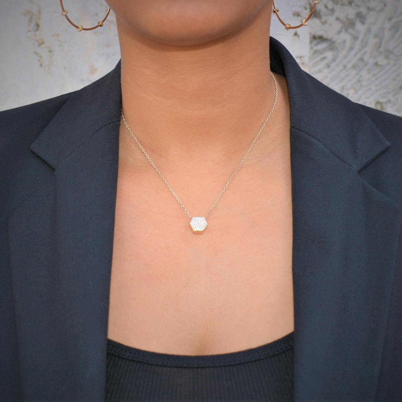 Sterling Silver Pave Nut Necklace