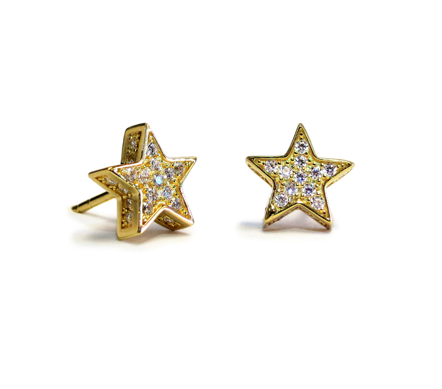 Touch Star Stud Earring Gold