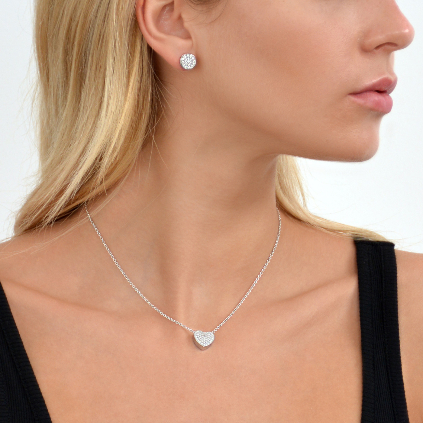 Sterling Silver Touch Solar Stud Earrings
