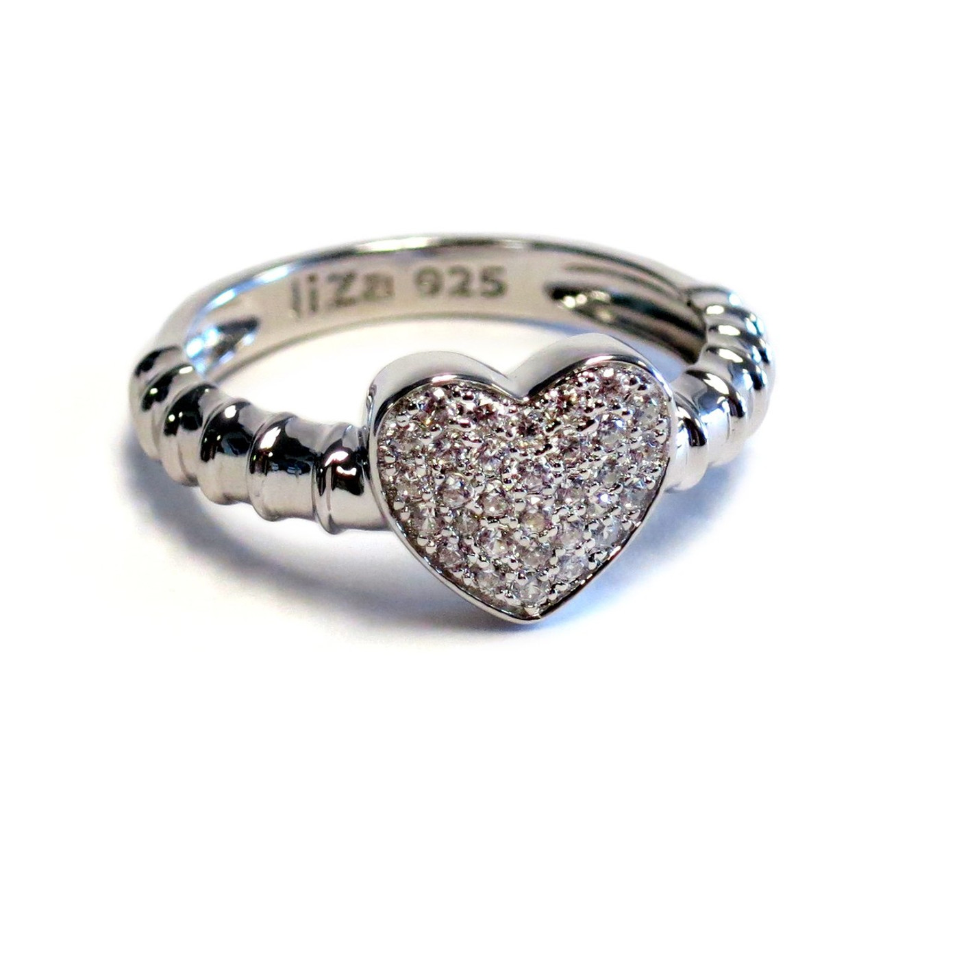 Sterling Silver Touch Ring Stack