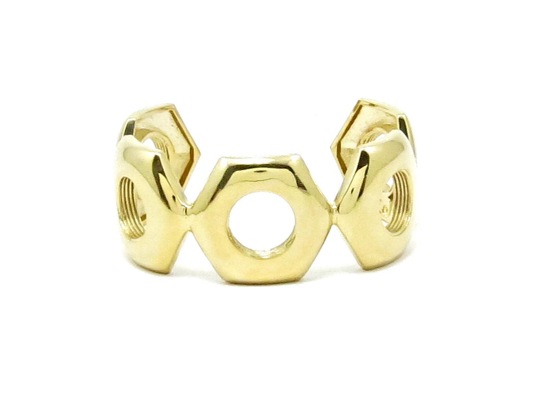 Gold Nut Cuff