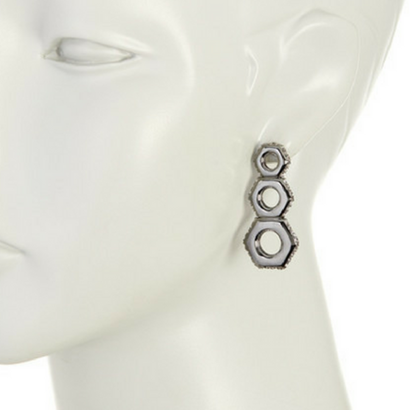 Gunmetal Nut Drop Earrings