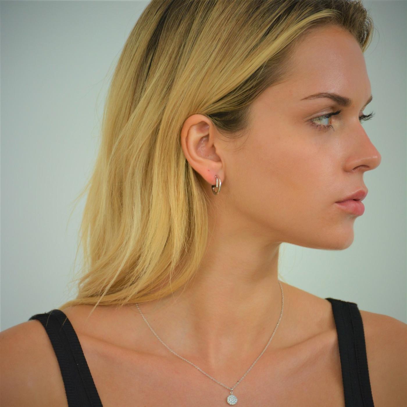 Silver Lunar Mooner Earrings
