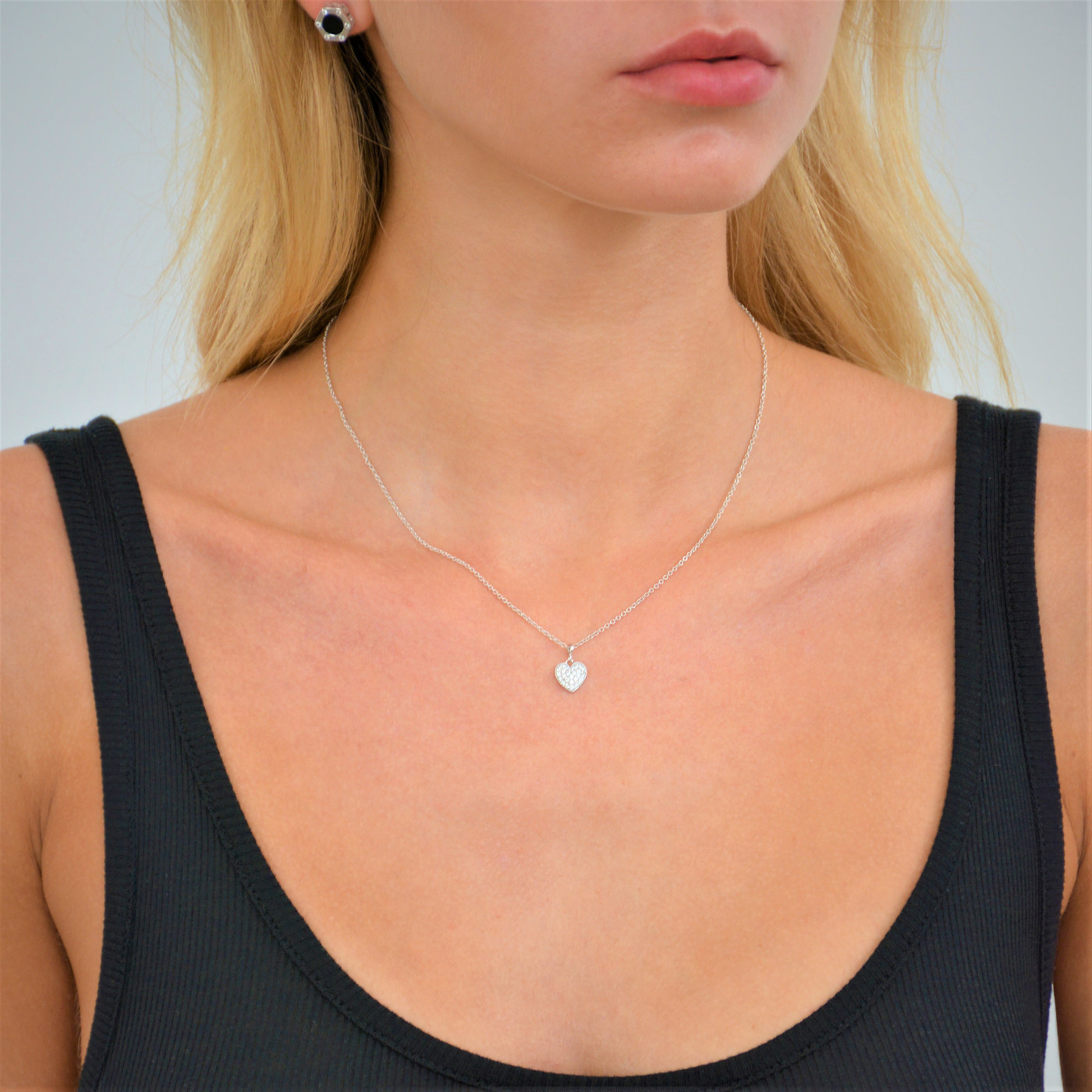 18K Gold over Sterling Silver Delicate Heart Necklace