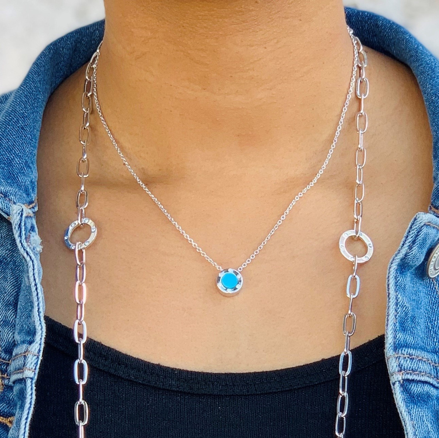 Sterling Silver Monte Carlo Turquoise Necklace