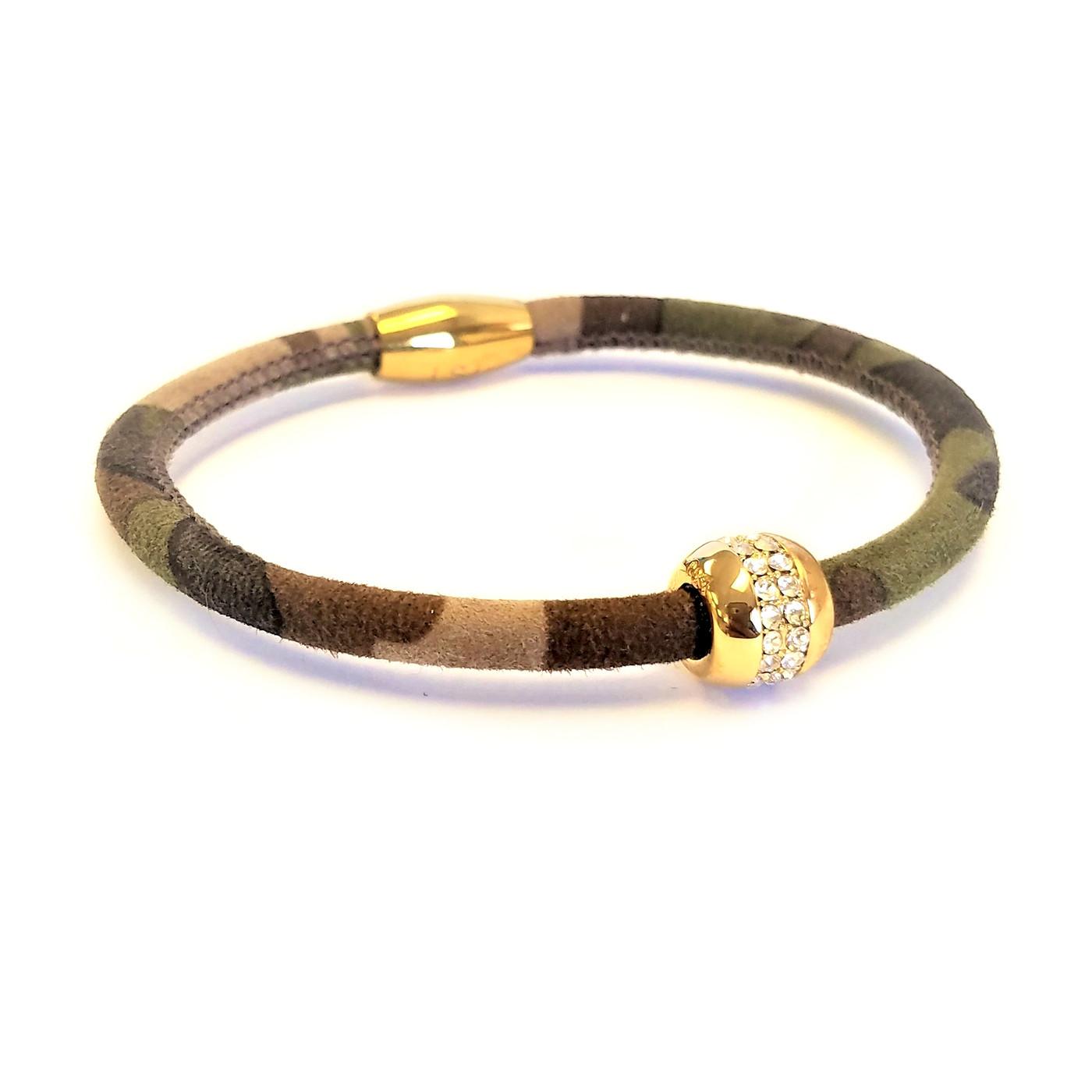 Good Karma Camouflage Leather Bracelet