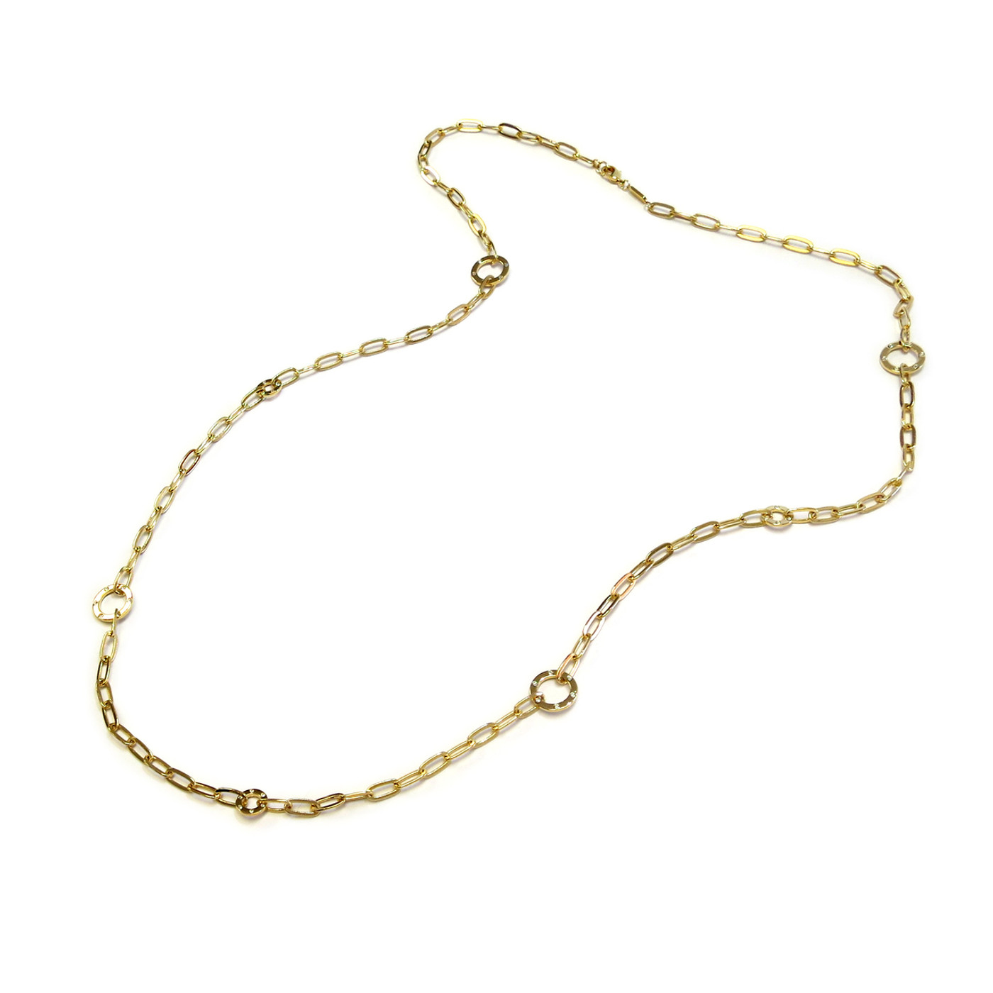 Grand Long Chain Necklace Gold