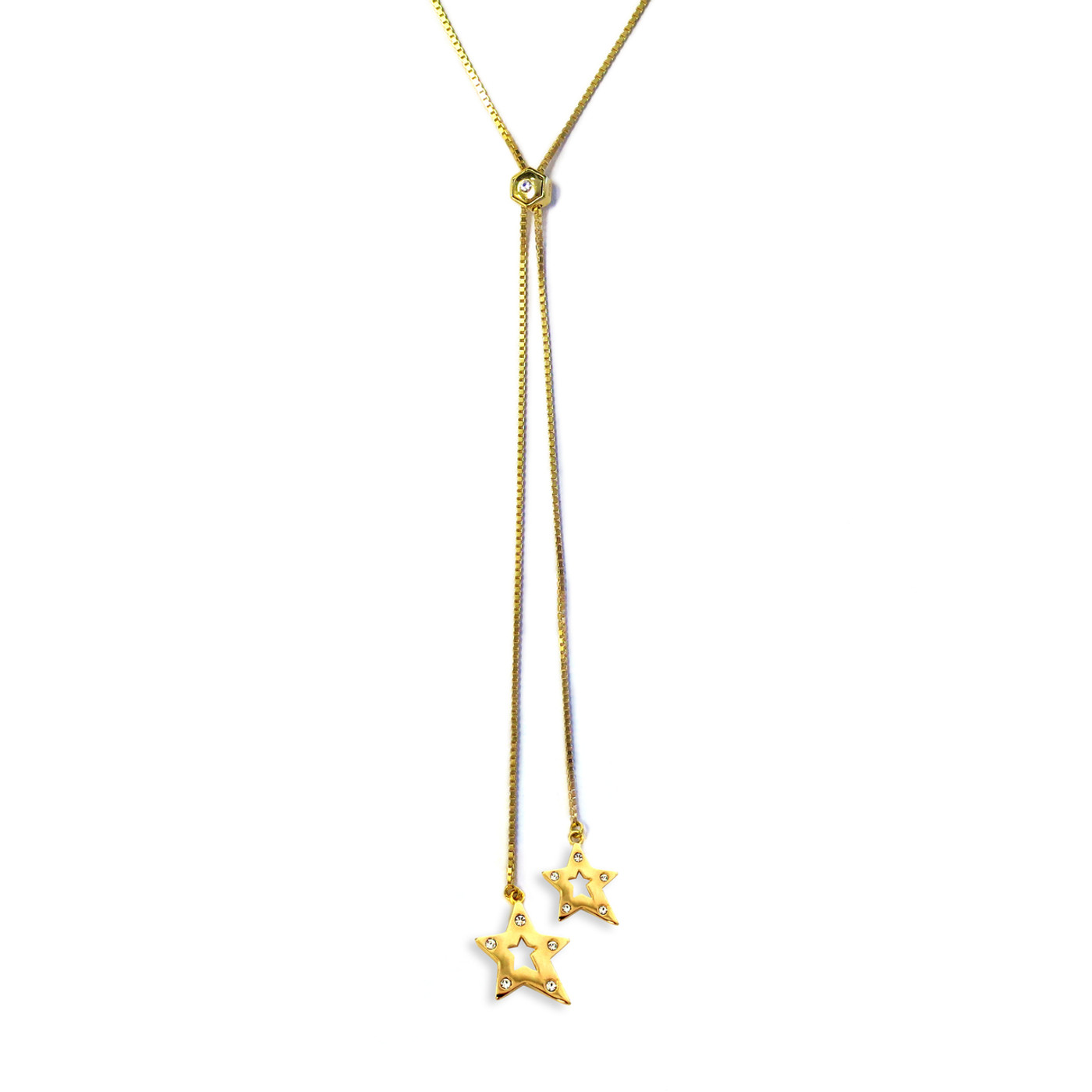 You're a Star Lariat Necklace Gold
