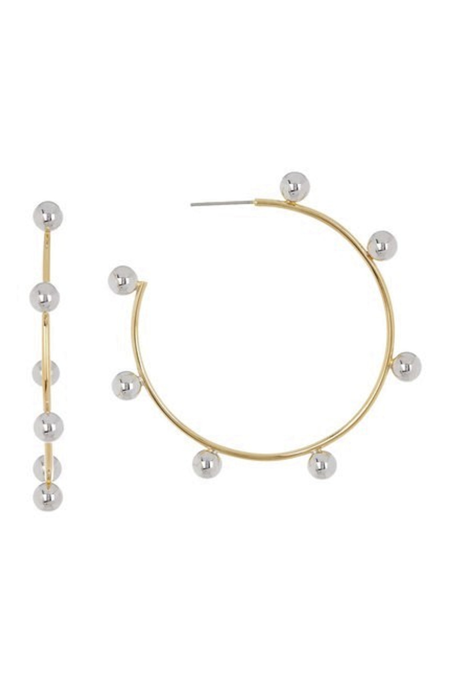 Large Gaga Two-tone Hoops