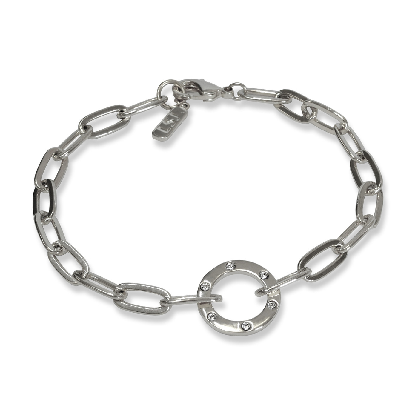 Amour Circle Bracelet Silver