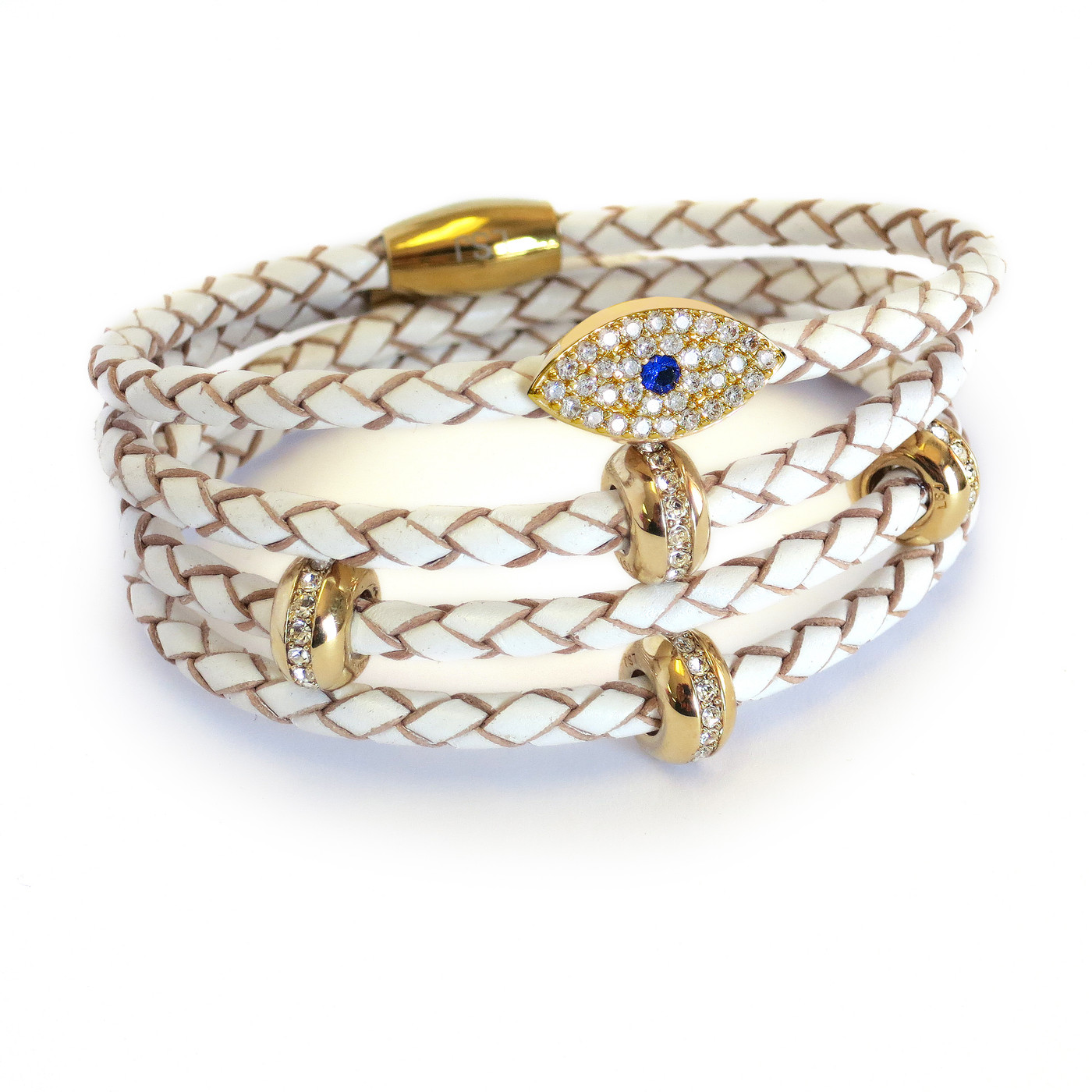 Sapphire Evil Eye Stack Gold