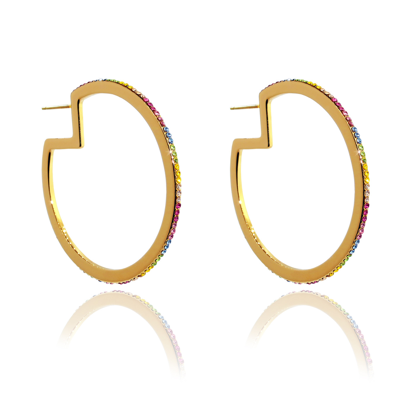Rainbow Hoops Gold