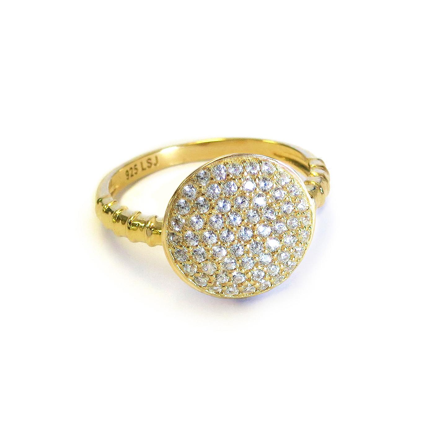 18K Gold over Sterling Silver Solar Ring