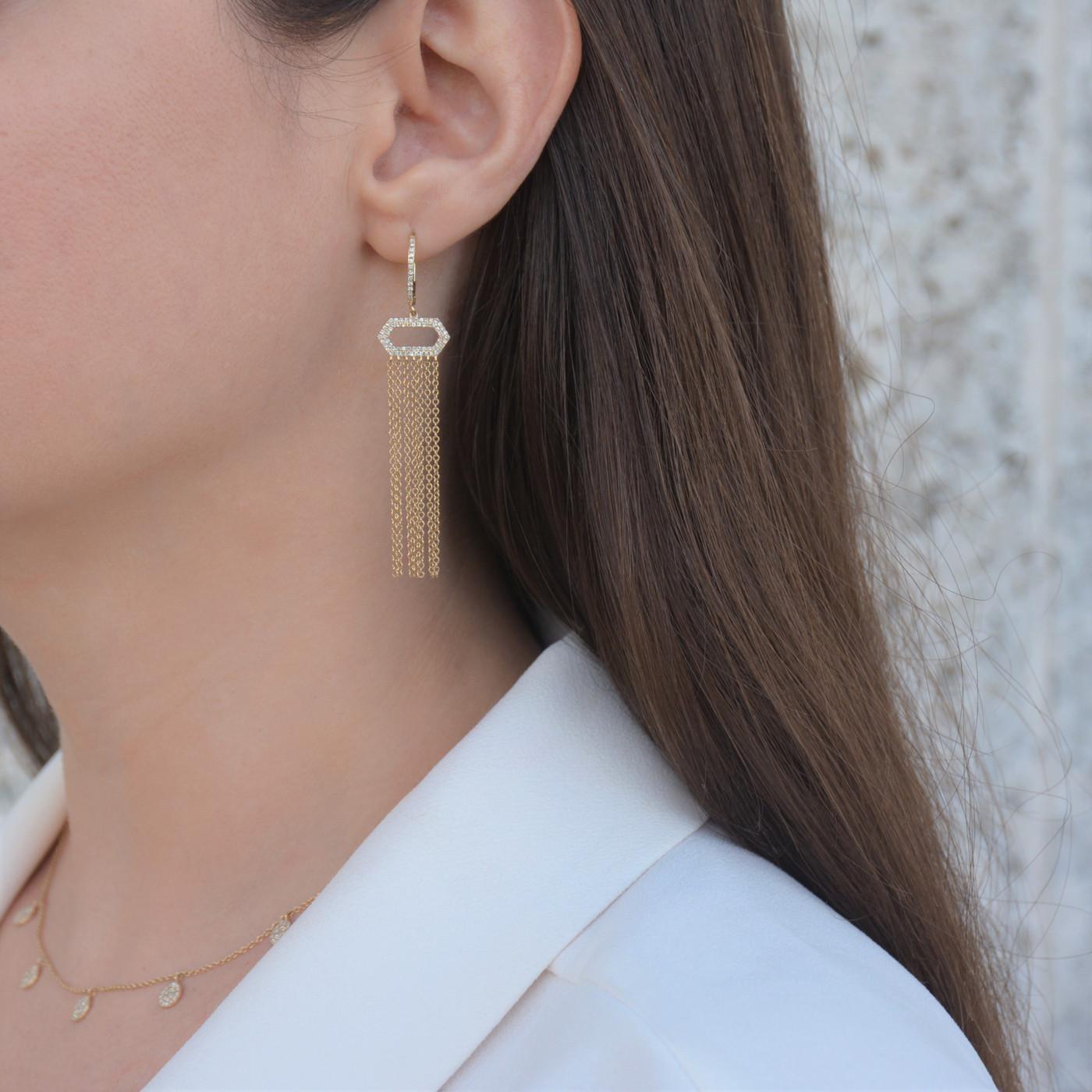 Diamond Chain Earrings