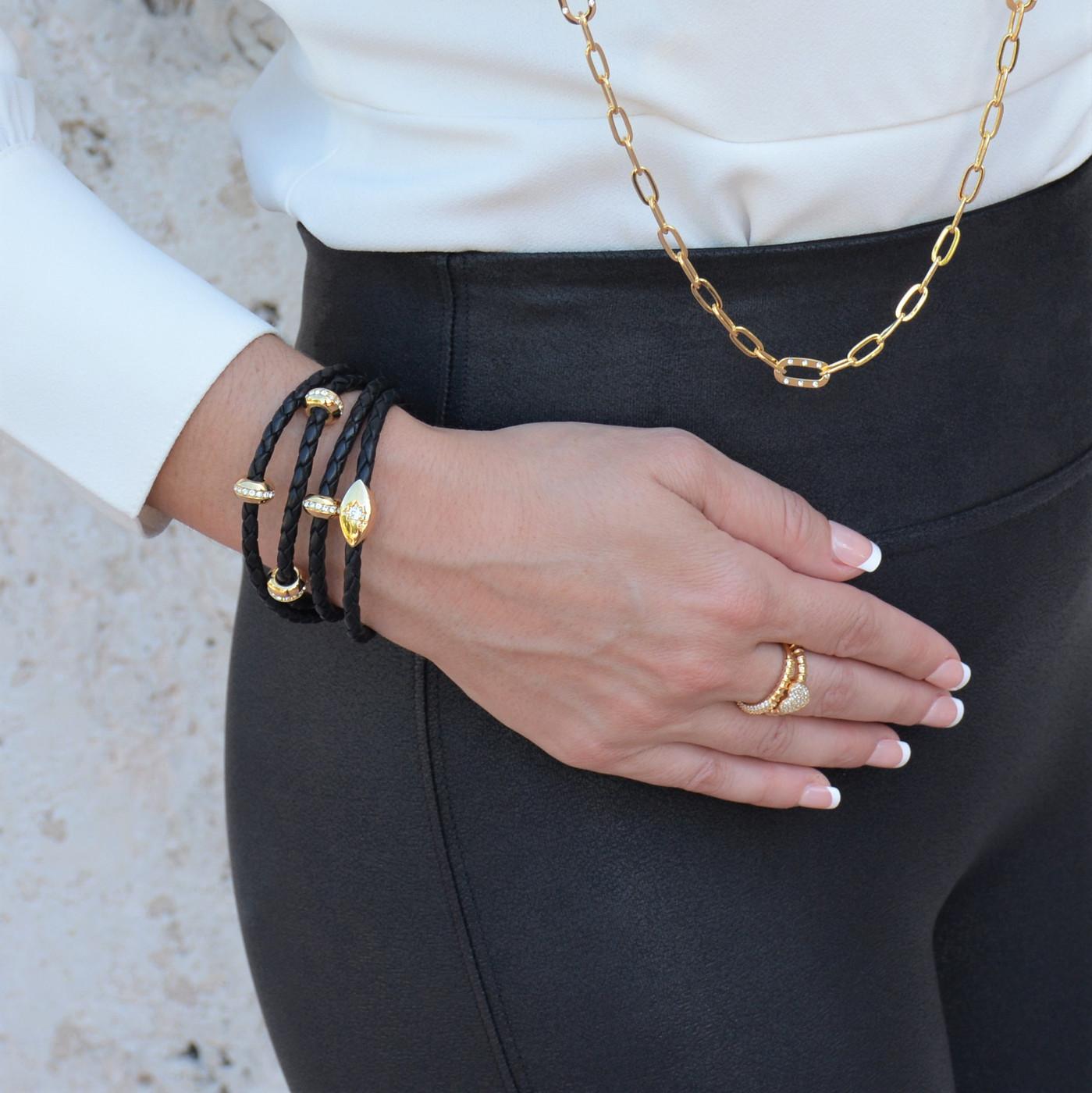 Evil Eye Starlight Bracelet Gold