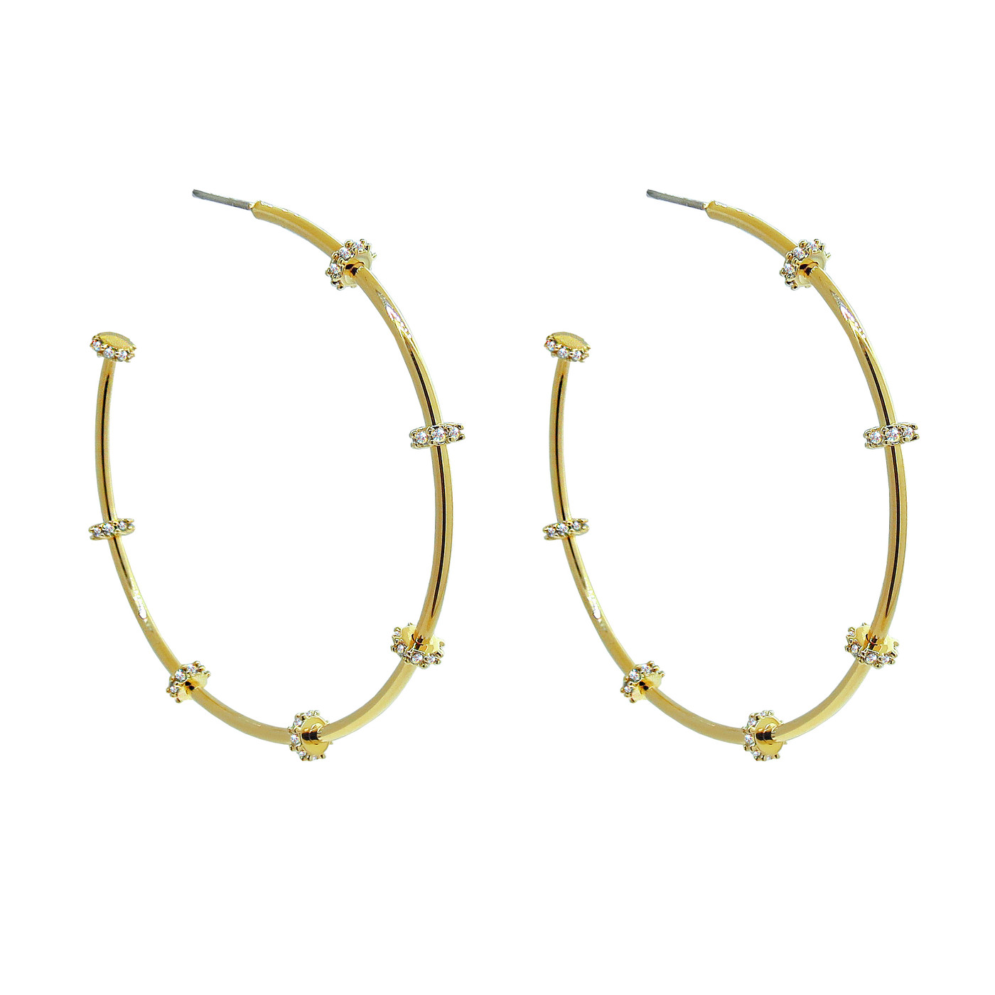Large Stella Hoops Gold