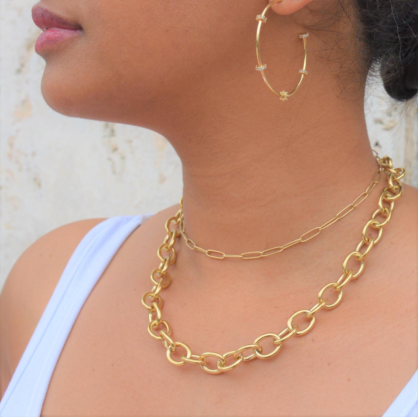 Stella Hoops Gold