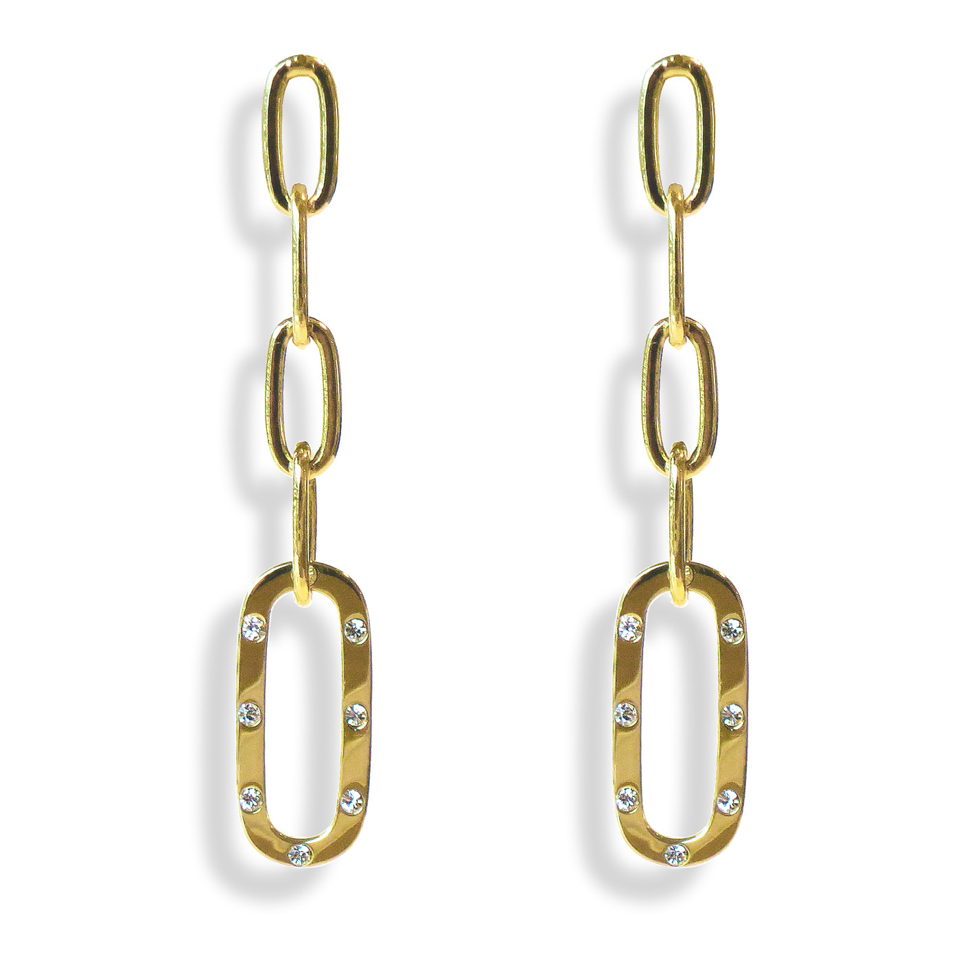 TikTok Link Earrings Gold