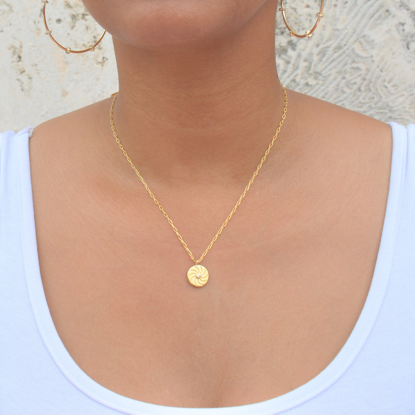 Sunshine Coin Medallion Necklace