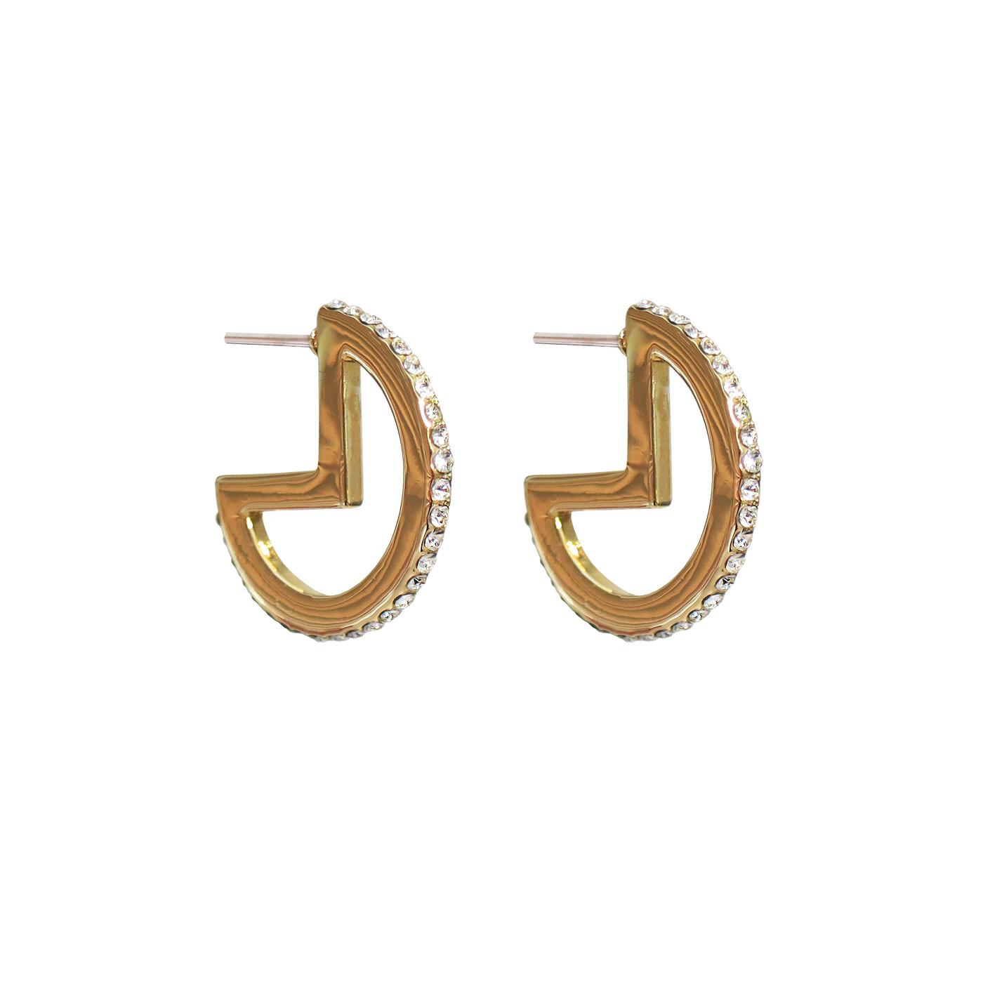 Mini Glitzy Hoop Earrings Gold
