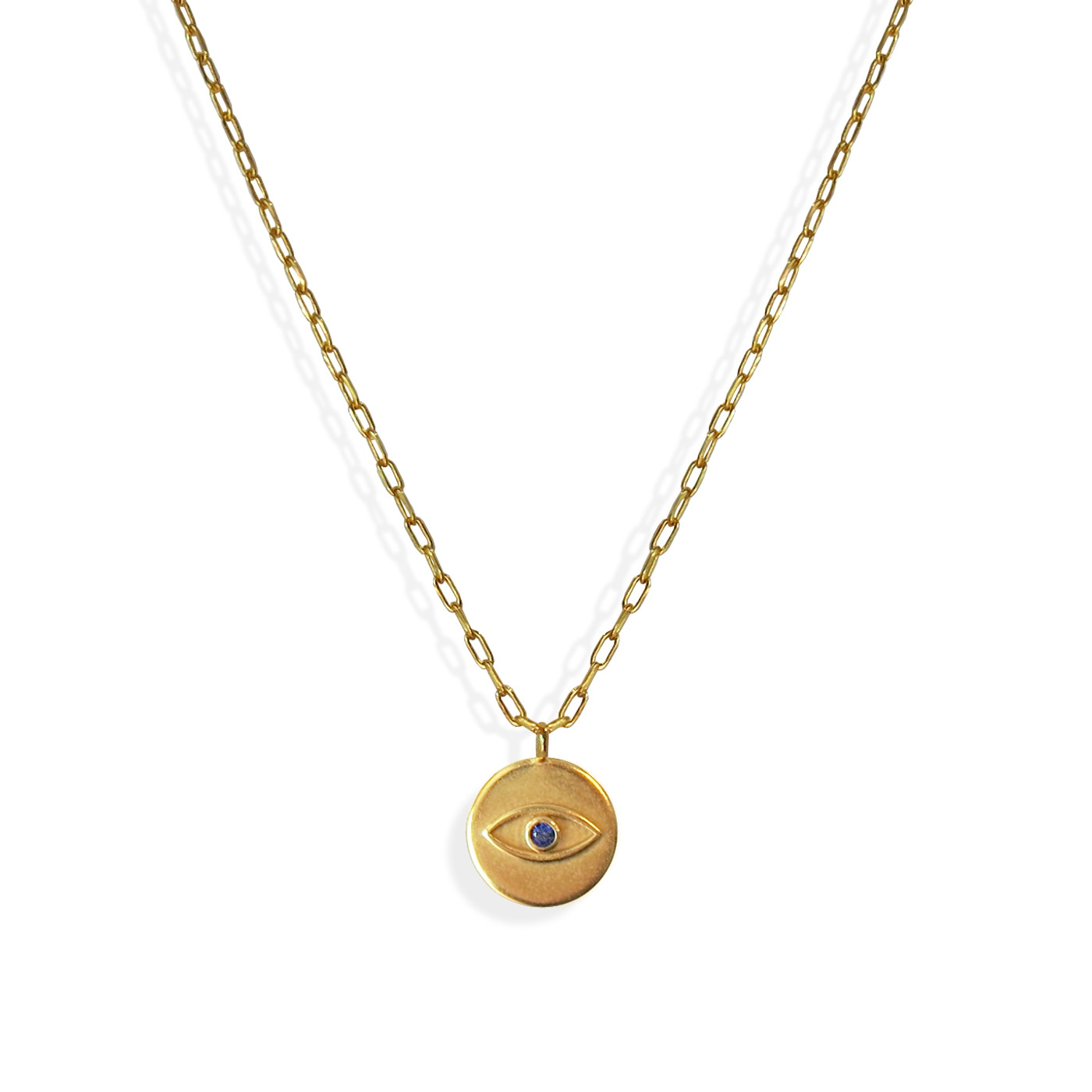 Evil Eye Relax Coin Medallion Necklace