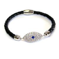 Evil Eye Lucky Leather Bracelet