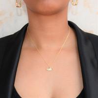 White Opal Evil Eye Necklace