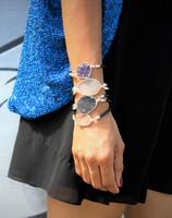 Sterling Silver Druzy Bracelet Heart