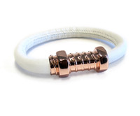 White Love Screw Bracelet