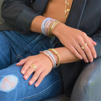 Sterling Silver SOBE Bar Triple Wrap