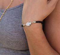 Sterling Silver Hamsa Bracelet