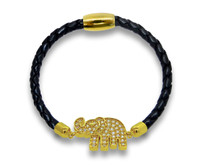 18k Gold over Sterling Silver Lucky Elephant