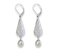 Sterling Silver Deco Drop Pearl