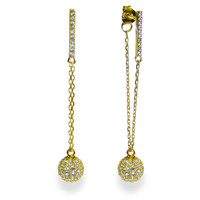 18K Gold over Sterling Silver Champagne Earrings