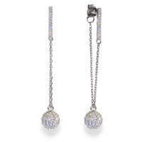 Sterling Silver Champagne Earrings