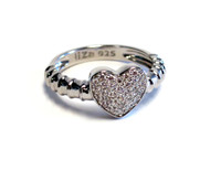 Sterling Silver Touch My Heart Ring