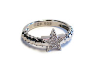 Sterling Silver Touch Star Ring