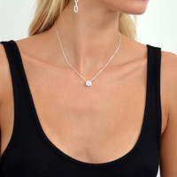 Sterling Silver Touch Solar Necklace
