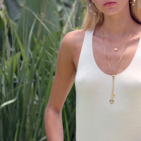 Touch Solar Necklace Gold