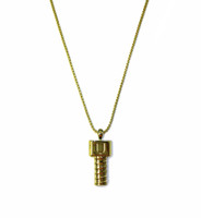Men Screw U Gold Necklace