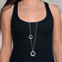 Rocked Nut and Bolt Necklace