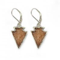 Druzy Arrow Earrings
