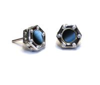Monte Carlo Onyx Earrings Silver