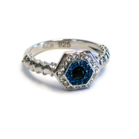 Touch Ring Stack Evil Eye Silver