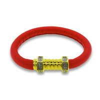 Jazz Screw Red Leather with Gold Clasp