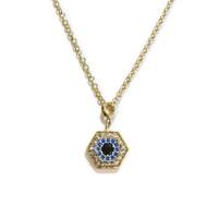Sterling Silver Delicate Evil Eye Necklace