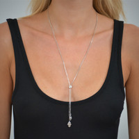 Hamsa Eye Lariat  Necklace