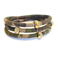 Good Karma Camouflage Leather Triple Wrap