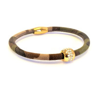 Good Karma Camouflage Leather Bracelet
