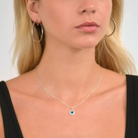 Large Pac Hoops Silver